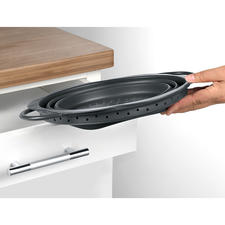 Passt bequem in jede Schublade oder Nische im Küchenschrank.