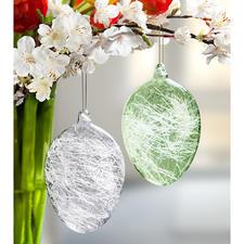 Glasfäden-Ostereier - Mit faszinierendem Licht-Spiel ein reizvoller Ostergruß. In- und outdoor. Jedes Ei ein Unikat.