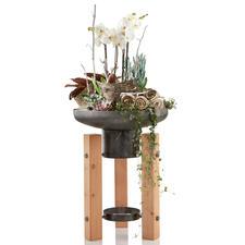 Besonders schön auch als Pflanzschale – ein dekoratives Hochbeet für Terrasse, Balkon, Entree.