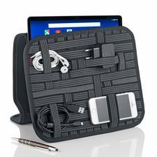 Tablet-/Zubehör-Organizer - Alle Kleinteile sauber verstaut: Schluss mit der Suche nach Kabel, Adapter, Stift und Visitenkarte.