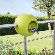Birdball-Geländerfutterhaus - Das Vogelfutterhaus für Ihr Balkon- oder Terrassengeländer. Oder einen Ast.