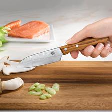 Damast-Messer - Die Schärfe und Schnitthaltigkeit großer Damaszener-Messer – jetzt auch als Schäl- und Gemüsemesser.