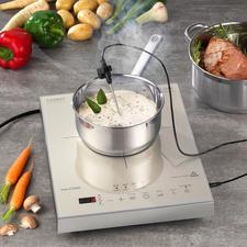 Caso Induktions-Kochfeld Thermo-Control - Induktionskochfeld 2.0: gart, kocht und brät Ihre Speisen aufs Grad genau.