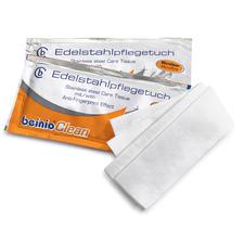 Edelstahl Reinigungstücher, 25 Stück - Hygienische Sauberkeit + streifenfreier Glanz + lang anhaltender Schutz vor Fingerabdrücken.