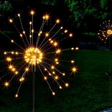 Solar-Wunderkerze - Faszinierendes Spiel feinster Lichtpunkte – wie funkensprühende, riesige Wunderkerzen.