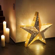 XXL-Weihnachtsstern - Verzaubert mit verwunschenem Leuchten: Der goldfarbene 3D-Weihnachtsstern im XXL-Format.