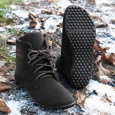 Barfuß-leguano® Schnür-Boots - Gesund und entspannend wie Barfußlaufen – jetzt winterwarm und city-chic.