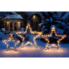 LED Lichterstern - Dekorative Sternsilhouetten – von unzähligen Lichtpunkten umschwärmt.
