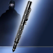 Tactical Pen - 4-in-1: solider Kugelschreiber, LED-Leuchte, Glasbrecher und griffbereites Notwehr-Tool.