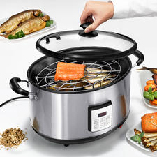 Elektrischer Räuchertopf - Auf Tastentipp verwöhnen Sie Familie und Gäste mit Räucherdelikatessen wie im Gourmet-Restaurant.