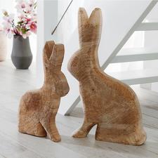 Holzhase Pappel - Von Hand gefertigt – mit kerniger Oberfläche und sichtbaren Jahresringen. Immer ein Unikat.