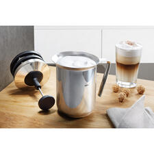 Gefu® Doppelsieb-Milchaufschäumer - Zwei Siebe statt nur einem. Für perfekten Milchschaum in weniger als 60 Sekunden.