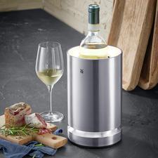 Sekt- und Weinkühler mit LED - Cromargan® Edelstahl hält Ihren Wein, Sekt eisgekühlt – und elegant LED-beleuchtet.