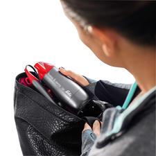 Zusammengeklappt perfekt für das Reisegepäck oder die Sporttasche.