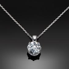Diamantkette, 1 Karat-Optik