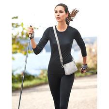 Schieben Sie den Gurt auf volle Länge – schon ist die Tasche als Crossbag zu tragen.