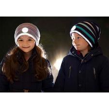 Twinkle Kid® Reflektor-Beanie - Sicher und cool: die trendige Strick-Beanie mit taghellem Leuchteffekt.