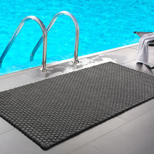 Die Kordelmatte Komfort in grau (132 x 72 cm) – perfekt am Pool, im Wellnessbereich ...