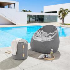 Lounge-Rundhocker oder -Sitzsack - Viel bequemer (und schöner): der Sitzsack mit dem Komfort eines Lounge-Möbels.