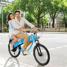 Doppelter Fahrspaß: Das Stroler E-Bike ist für 2 Personen zugelassen.