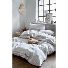 Flanellbettwäsche aus Recyclingbaumwolle - Höchster Schlafgenuss: Die kuschelig weiche Flanellbettwäsche aus recycelter Baumwolle.