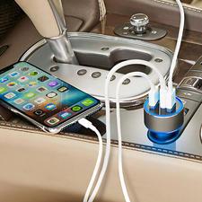 3-Port USB-Highspeed-Charger - Integriert: USB-Typ-C-Port (3A), Qualcomm® Quick Charge™ 3.0 (3 A) und 2,4 A-Port. Ermittelt für jedes Mobilgerät die optimale Ladespannung und damit schnellstmögliche Ladegeschwindigkeit.