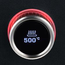 Die punktgenaue Temperatursteuerung gelingt über das kontraststarke OLED-Display.