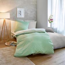 Sommer-Bettwäsche, 140 x 200 cm - Nur ein Hauch auf der Haut: sommerleichte, bi-color Wendebettwäsche aus reiner Baumwolle.