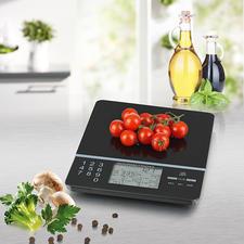 Küchenwaage Food Control - Die intelligente Küchenwaage: kennt Kalorienzahl und Nährwerte von 999 (!) verschiedenen Lebensmitteln.