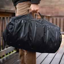 System-Reisetasche - Das Beste aus Dufflebag, Rucksack und Packwürfeln vereint in einer Reisetasche.