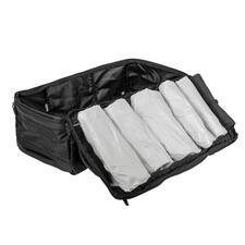 Packen mit System: In 5unterschiedlich großen Abteilen ist alles schnell zu finden und direkt zur Hand.