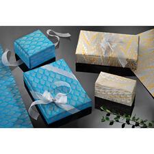Handgemachtes Geschenkpapier, 9er-Set - Geschenkpapier der Luxusklasse: von Hand geschöpft, handbedruckt und handmarmoriert.