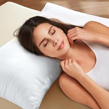 Memory-Faser-Kissen - Genießen Sie die Vorteile eines visco-elastischen Kissens jetzt ohne vorgeformte Mulde.