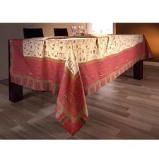 Angenehm fest gewebt, liegen die Tischdecken besonders glatt auf.