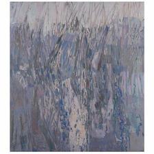 """""""Binsen am See"""",  ungerahmt 100 x 112 cm."""