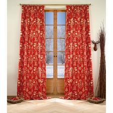 """Vorhang """"Noel"""", 2er-Set - Verzaubert die Advents- und Festtagszeit  mit weihnachtlichen Farben und Motiven."""