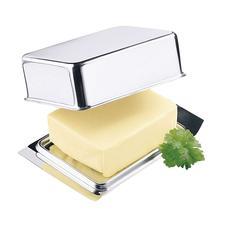 Edelstahl-Butterdose - Diese Edelstahl-Butterdose passt exakt ins Butterfach Ihres Kühlschranks.