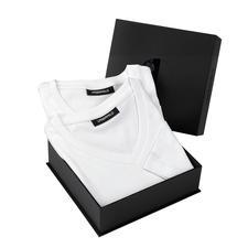 Lagerfeld Basic-Shirts 2er-Set - Das ideale Basic-Shirt: Puristisch schwarz oder weiß. Schlank geschnitten.
