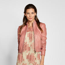 "Twin-Set Lederblouson ""Pink Rose"" - So elegant, so feminin sind coole Lederjacken nur selten. Von Twin-Set."