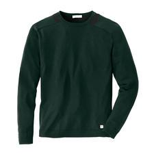 Versace Collection Pullover Tanne - Der jetzt genau richtige Basic-Pulli: Trendfarbe Tanne. Edler Feinstrick. Wärmende Merinowolle. Von Versace.