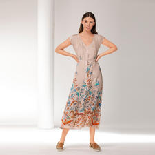Blüten-Maxi-Kleid