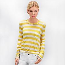 Zadig & Voltaire Metallic-Paint- Streifenshirt - Trend-Upgrade für das kultige Metallic-Paint-Shirt von Zadig & Voltaire: maritime Streifen.