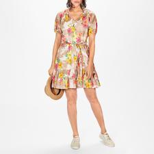 MY TWIN TWINSET Camouflage-Blumen-Kleid - Blüten. Camouflage. Safari-Töne. 3 Trends perfekt vereint in diesem Kleid. Von MY TWIN TWINSET.
