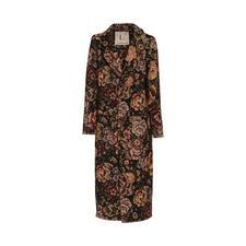 L`Autre Chose Brokat-Mantel - Brokat-Muster. Fransen-Säume. Herbstlaub-Töne. Ein Mantel – drei Trends vereint. Von L´Autre Chose.
