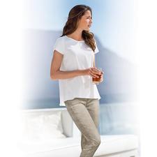 van Laack Blusen-Shirt - Eleganter und femininer als ein Shirt. Lässiger und zwangloser als eine Bluse. Das van Laack Blusen-Shirt.