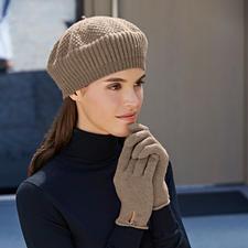 kaschmirmuetze_oder_kaschmirhandschuhe - Mütze, Beige und Handschuhe, Beige-meliert