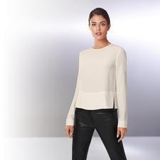 "Strenesse Seiden-Shirt-Bluse, Langarm - Sportiver Schnitt. Elegantes Material. Strenesse hat die perfekte Bluse zum Thema ""Sporty-Elegance""."