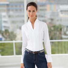 van Laack Kelchkragen-Bluse - Perfekt kombinierbar mit allen Jackenformen. Von Deutschlands Blusen-Spezialist van Laack.