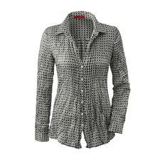 Bügelfreie Seidencrash-Bluse - Nie wieder Bügeln: die Bluse aus feinem Seidencrash. Das platzsparende Leichtgewicht passt in jeden Reisekoffer.