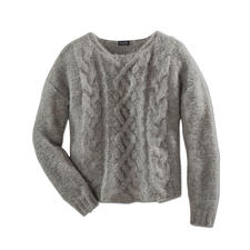 """Alpaka-Grobstrickpullover """"Slim Line"""" - Schwer zu finden: der schlanke, leichte unter den angesagten Grobstrick-Pullovern."""